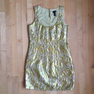 J.Crew Collection metallic brocade gold dress 0
